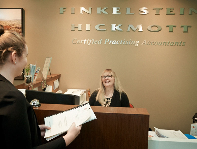 Finkelstein Hickmott Certified Practising Accountants Reception